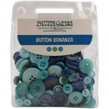 Buttons Galore Button Bonanza - OCEAN BLUE Jumbo Pack