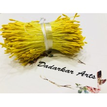 Yellow Rice Pollen 2MM Head Size Flower making Thread Pollens