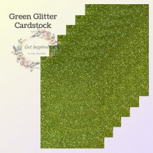 Green Glitter Cardstock A4 size Pk/6 Sheets by Get Inspired