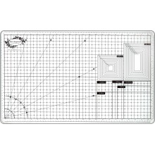 "Supreme Quality Multi Purpose Tempered Glass Super White Cutting Mat 23""x13"""