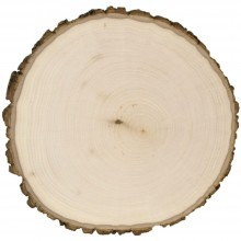 "9"" To 11"" Thick Wide Basswood Country Round Plaque"