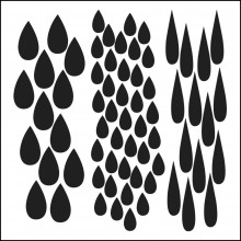 "Stencil Crafter's Workshop Template 6""X6"" - MINI RAIN"