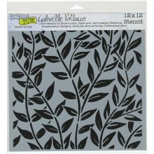 "Stencil Crafter's Workshop Template 12""X12"" - Jungle Vines"