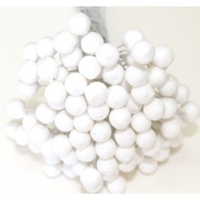 Round Styrofoam Buds 8mm Pack of 100