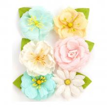 "Flowers Heaven Sent 2 Allegra  2.5"", 6/Pkg By Prima"