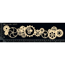 "Cog Border 12""x3"" Chipboards"