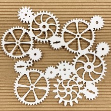 "Jumbo Cogs & Gears Chippies By Get Inspired - 8""x 8"""