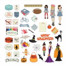 September & October Julie Nutting Ephemera Cardstock Die - Cuts
