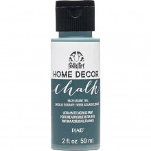 FolkArt Home Decor Chalk Acrylic Paint, 2oz Elegant Teal