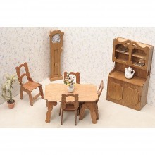 Dining Room Miniature Furniture Kit