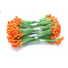Orange-Wire Pollen-3mm Head Pack 10 Bunches