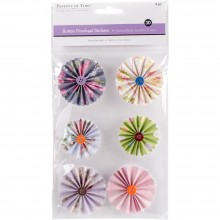 Pinwheel Stickers 3D Button Intricate MultiCraft Handmade