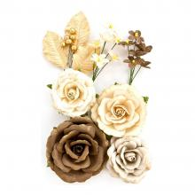 "Flowers Amber Moon Aspen 2"" To 5"", 8/Pkg By Prima"