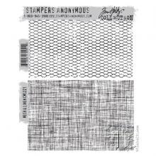 "Cling Stamps 7""X8.5"" MESH & LINEN-Tim Holtz"