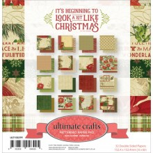 "Double-Sided Paper Pad Beginning To Look A Lot Like Christmas by Ultimate Crafts 6""X6"" 32/Pkg"