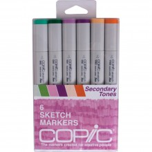 Copic Sketch Markers 6/Pkg - Secondary Tones