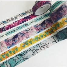 Dina Wakley Media Washi Tape #1-6 Rolls
