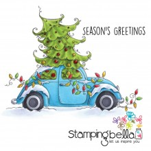 Cling Stamps Christmas Bug By Stamping Bella