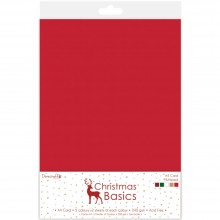 Dovecraft Christmas Basics A4 Card Multipack