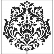 "Stencil Crafter's Workshop Template 12""X12"" - Brocade"