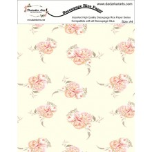 Floral Background Rice Paper A4 By Get Inspired