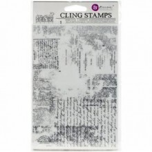 "Texture Cling Stamps 5""x7"" By Prima"