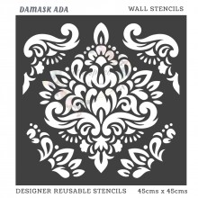 Damask Ada Home Decor Designer Reusable Stencil 45cmsx45cms