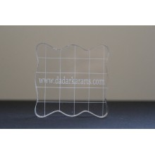 Stamping Acrylic Grid Square Block 5cmsx5cms