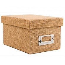 2 Box - Natural Burlap Fabric Storage Box Pack of 2 Boxes By American Crafts