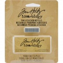Metal Tiny Attacher Refills by Tim Holtz Idea-ology, Box of 1550 Staples, .25 Inches