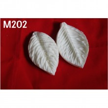 Flower Making Leaves Hard Polyresin Mold 202 2 Leaves  7cmsx4cms
