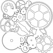 "Stencil Crafter's Workshop Template 6""X6"" - GEARS"