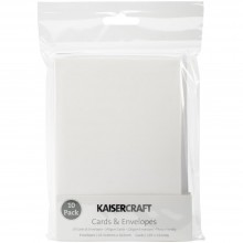 "Kaisercraft C6 Cards White W/Envelopes 4.5""X6.25"" 10/Pkg"