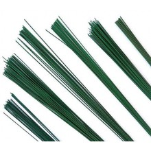 Flower Making Wire 22 Guage Dark Green Pack of 1 - 100 Wires 14inch length