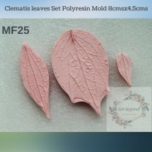 Clematis leaves Set Polyresin Mold 8cmsx4.5cms MF25