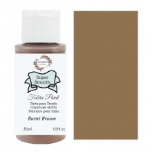 Super Smooth Fabric Paint- Burnt Brown 30ml