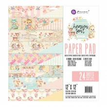 "Double-Sided Paper Pad 12""X12"" 24/Pkg By Heaven Sent 2 Prima Marketing"