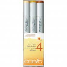 Copic Sketch Color Fusion Markers 3/Pkg Set 4: YR20-S, YR23-S and YR27-S.