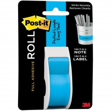 "Mediterranean Blue Post-It Full Adhesive Roll 1""X400"""