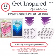 Downflow Alphabet Dies Set - Uppercase set of 28 Dies