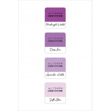 InkPads Tropical Shades of Purple Mini Cube Pack of 4 Set