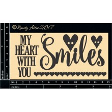 "My heart Smiles with you 6""x3"" Chipboards"