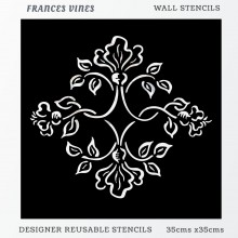 Frances Vines Home Decor Designer Reusable Stencil 35cmsx35cms