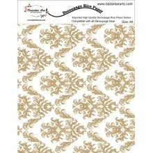 Damask Rice Paper A4 By Get Inspired