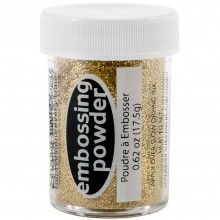 Sparkly Jeweled Gold Transparent Stampendous Embossing Powder