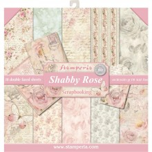 "Stamperia Double-Sided Paper Pad 12""X12"" 10/Pkg Shabby Rose 10 Designs/1 Each"