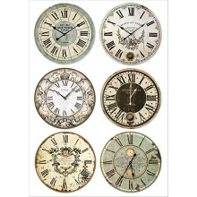 A4 Rice paper packed Clocks By Stamperia
