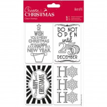 "Stamps Gift Tags Papermania Create Christmas Clear 5.3"" X 7.6"""