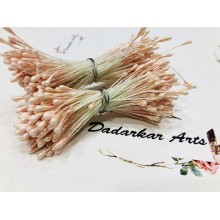 Pearl Blush Pink 2mm Head Size Flower making Stiff Thread Pollens