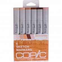 Copic Sketch Markers 6/Pkg - Skin Tones 1